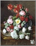 A Rich Still Life of Flowers
