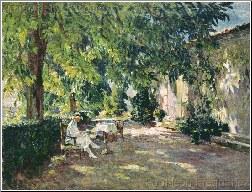 The Artist's Wife In Their Garden