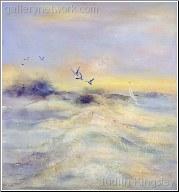 Morning Flight on the Beach