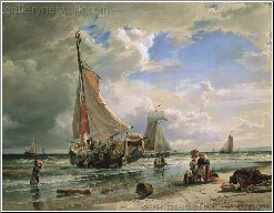 Fisherfolk on Scheveningen Beach, 1855