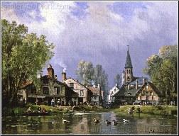 A Busy Riverside Village
