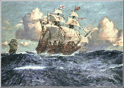 The English Fleet at Sea