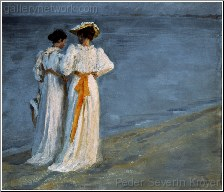 Two Women on the Beach at Skagen