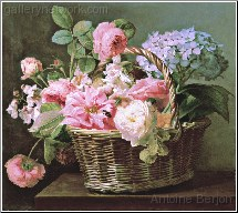 A Still Life of Flowers in a Basket