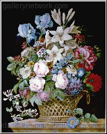 A Rich Still Life of Roses, Lillies, and Iris