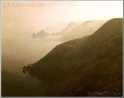 fogcoming in sea sky